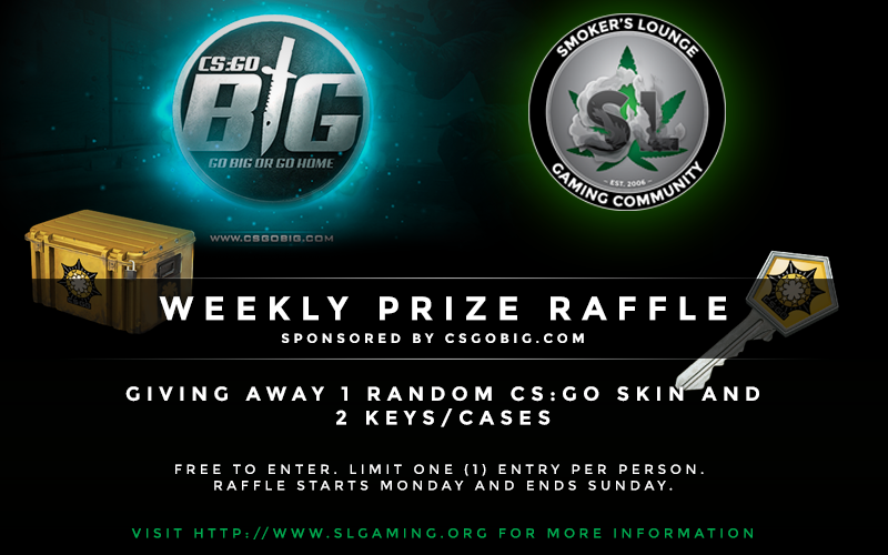 The Smoker's Lounge Weekly Raffle. 1/11/2016